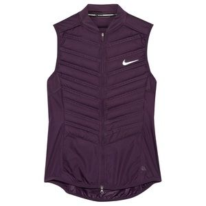 Nike Aeroloft Quilted Down Vest in Purple